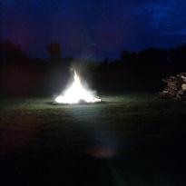 Bonfire at my sister's